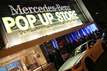 mercedes benz pop up store