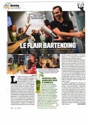 article presse du magazine VSD - barman jongleur et cocktail