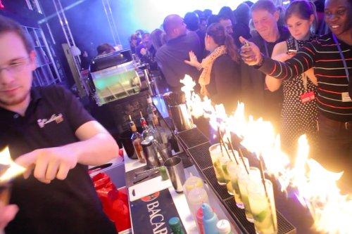 cocktail shows - bar enflammé